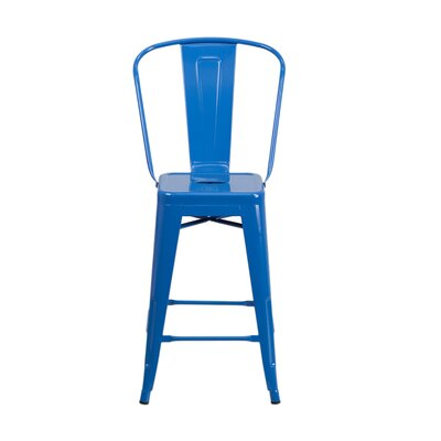 Charles 24 Bar Stool Finish: Blue
