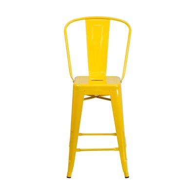 Charles 24 Bar Stool Finish: Yellow