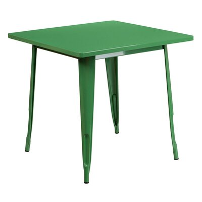 Jesse Square Metal Indoor End Table Color: Green
