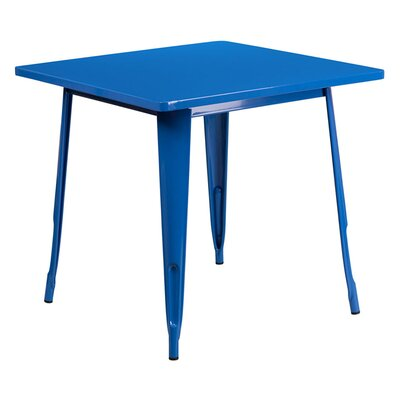 Jesse Square Metal Indoor End Table Color: Blue