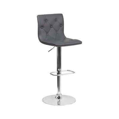 23.5 Swivel Bar Stool Upholstery: Gray