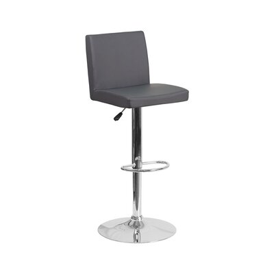 23.75 Swivel Bar Stool Upholstery: Gray