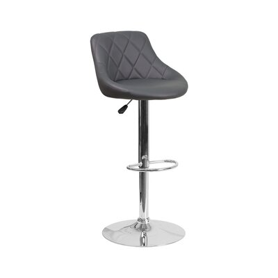 32 Swivel Bar Stool Upholstery: Gray