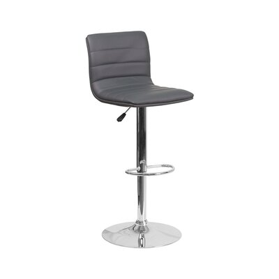 33 Swivel Bar Stool Upholstery: Gray
