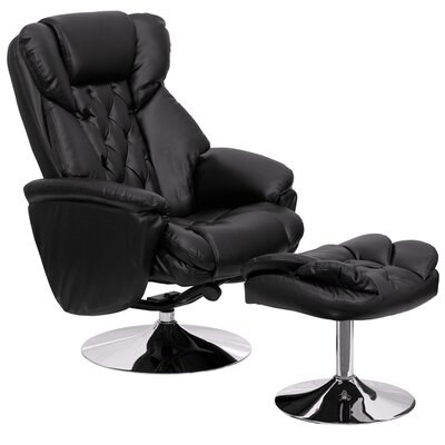 Krystin Manual Swivel Glider Recliner With Ottoman