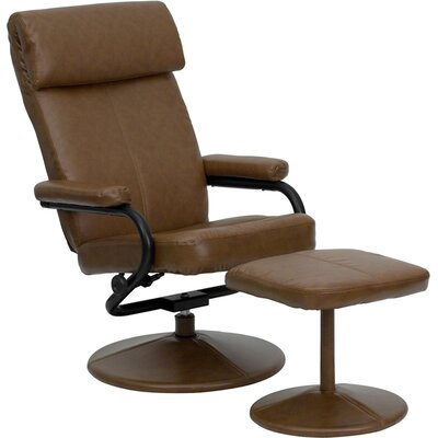 Marisol Manual Recliner With Ottoman Upholstery: Palomino