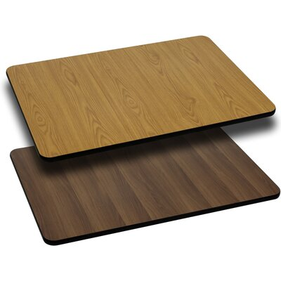 Reversible Table Top Size: 1 H x 30 W x 24 D