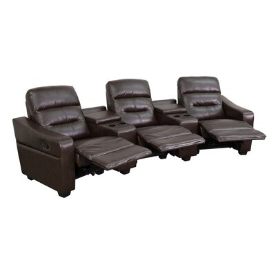 Dash 3 Seat Reclining Leather Home Theater Sofa Upholstery: Brown LATT7064 38560861