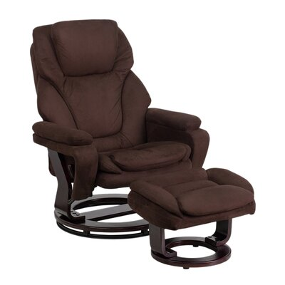 Jeannetta Manual Swivel Recliner with Ottoman