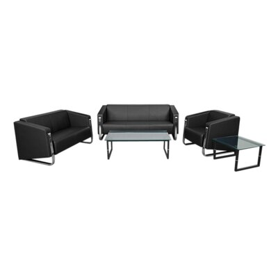 Orlie 3 Piece Reception Leather Living Room Set