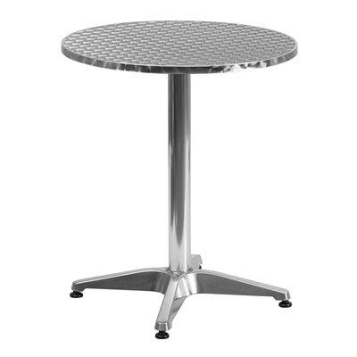 Maricela Round Aluminum Indoor/Outdoor Bar Table Size: 23.5