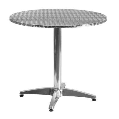 Maricela Round Aluminum Indoor/Outdoor Bar Table Size: 31.5