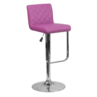 Farley 33.5 Swivel Bar Stool Upholstery: Purple