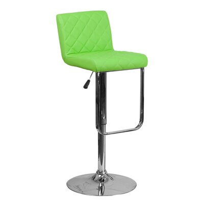 Farley 33.5 Swivel Bar Stool Upholstery: Green