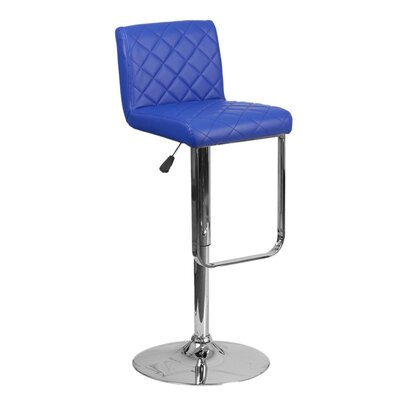 Farley 33.5 Swivel Bar Stool Upholstery: Blue