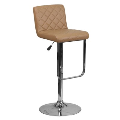 Farley 33.5 Swivel Bar Stool Upholstery: Cappuccino
