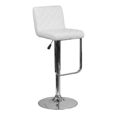 Farley 33.5 Swivel Bar Stool Upholstery: White
