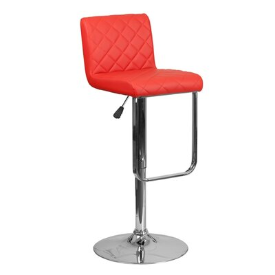 Farley 33.5 Swivel Bar Stool Upholstery: Red