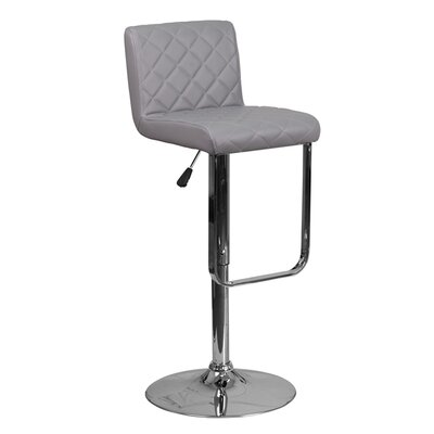 Farley 33.5 Swivel Bar Stool Upholstery: Gray