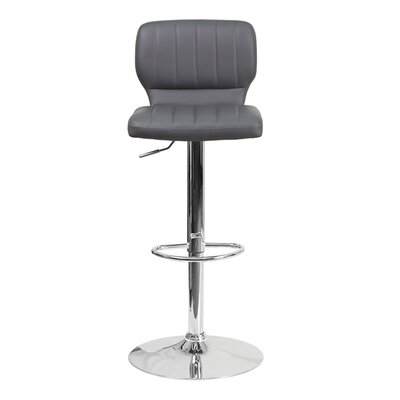 Audrey 33.5 inch Swivel Bar Stool Upholstery: Vinyl - Gray