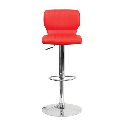 Audrey 33.5 Swivel Bar Stool Upholstery: Vinyl - Red