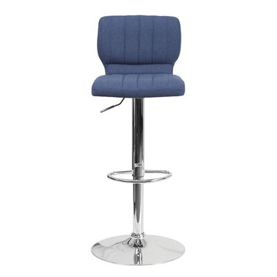 Audrey 33.5 Swivel Bar Stool Upholstery: Fabric - Blue
