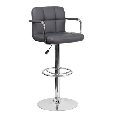 Eamor 33.5 Swivel Bar Stool Upholstery: Gray