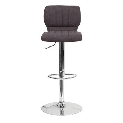 Audrey 33.5 Swivel Bar Stool Upholstery: Fabric - Black