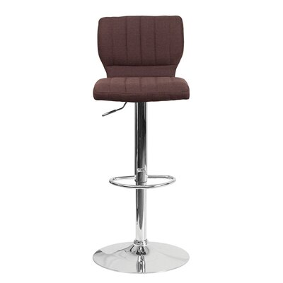 Audrey 33.5 Swivel Bar Stool Upholstery: Fabric - Brown