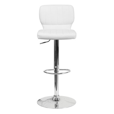 Audrey 33.5 Swivel Bar Stool Upholstery: Vinyl - White