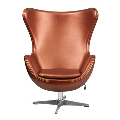 Carlson High-Back Mesh Executive Chair Color: Copper