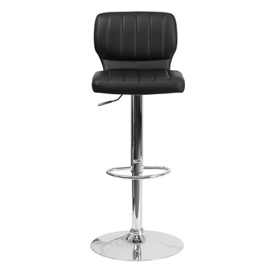Audrey 33.5 Swivel Bar Stool Upholstery: Vinyl - Black
