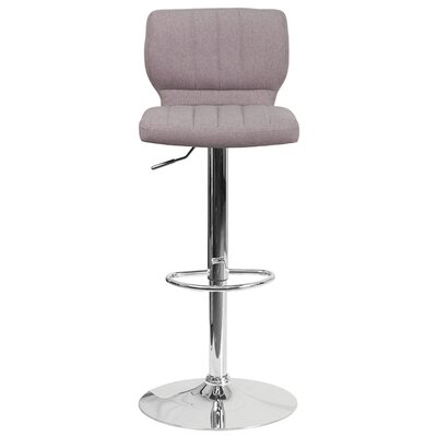Audrey 33.5 Swivel Bar Stool Upholstery: Fabric - Gray