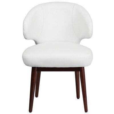 Fluellen Comfort Back Leather Guest Chair Seat Color: White