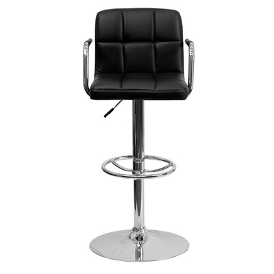 Eamor 33.5 Swivel Bar Stool Upholstery: Black