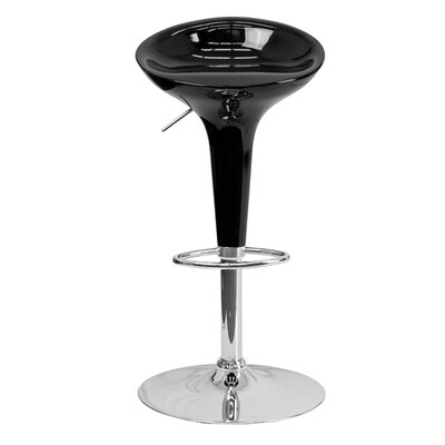 Arlo Adjustable Height Swivel Bar Stool Finish: Black