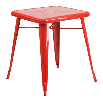 Charles Square Bar Table Finish: Red