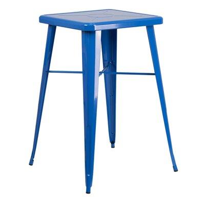 Charles Square Bar Table Finish: Blue