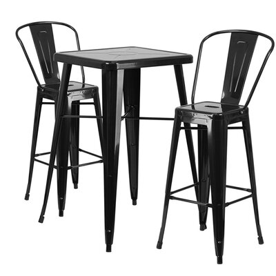 Charles Metal 3 Piece Bar Set Finish: Black