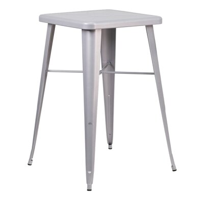 Charles Square Bar Table Finish: Silver