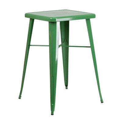 Charles Square Bar Table Finish: Green