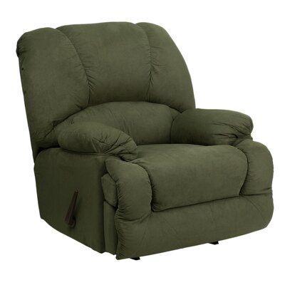 Dundridge Chaise Recliner Upholstery: Olive, Type: Manual
