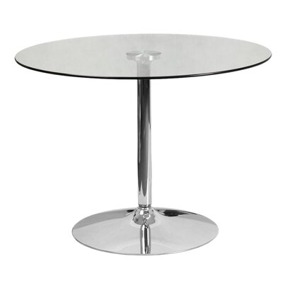Delora Glass Bar Table Table Size: 39.25