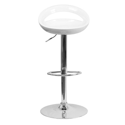 Normandy Adjustable Height 33 inch Swivel Bar Stool Finish: White