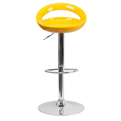 Normandy Adjustable Height 33 Swivel Bar Stool Finish: Yellow