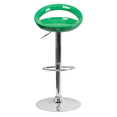 Normandy Adjustable Height 33 Swivel Bar Stool Finish: Green
