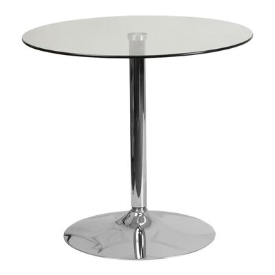 Delora Glass Bar Table Table Size: 31.5