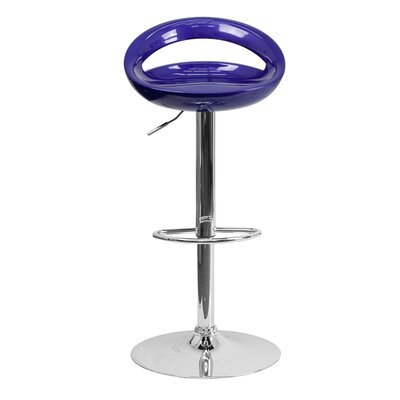 Normandy Adjustable Height 33 Swivel Bar Stool Finish: Blue