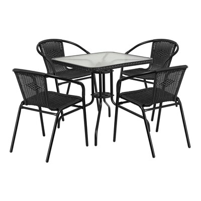 Fontes 5 Piece Dining Set Finish: Black