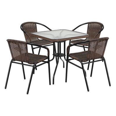 Fontes 5 Piece Dining Set Finish: Dark Brown